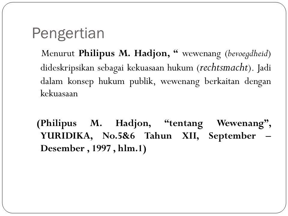 Pengertian Menurut Philipus M.