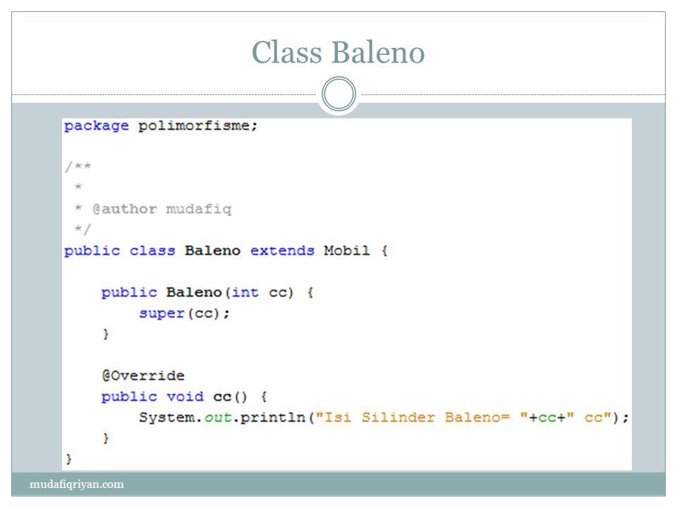 Class Baleno mudafiqriyan.com