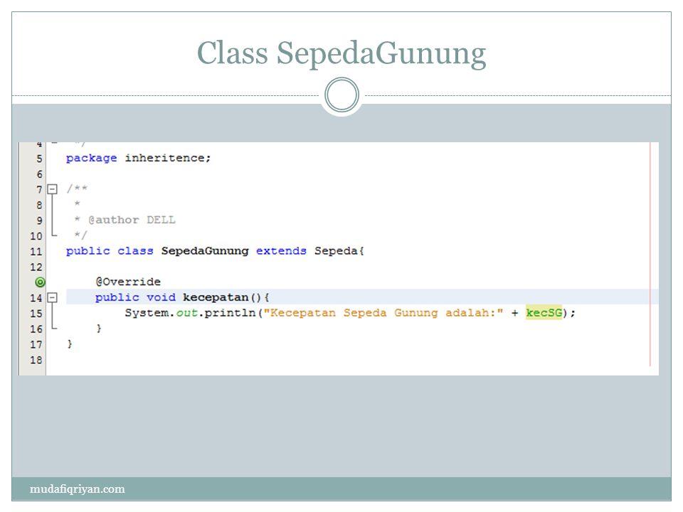 Main Class mudafiqriyan.com