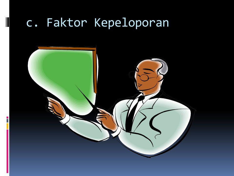 c. Faktor Kepeloporan