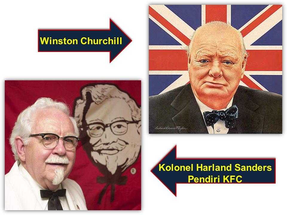Kolonel Harland Sanders Pendiri KFC Winston Churchill