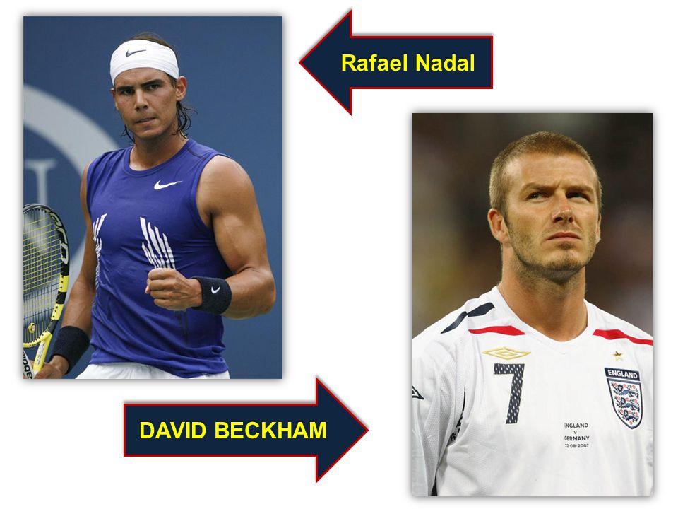 DAVID BECKHAM Rafael Nadal