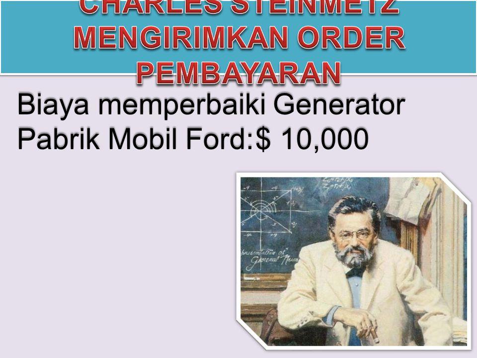 Biaya memperbaiki Generator Pabrik Mobil Ford:$ 10,000