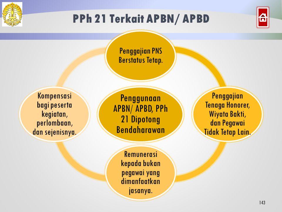 Tata Cara Penghitungan: Penerima Atas Beban APBN/ APBD 142