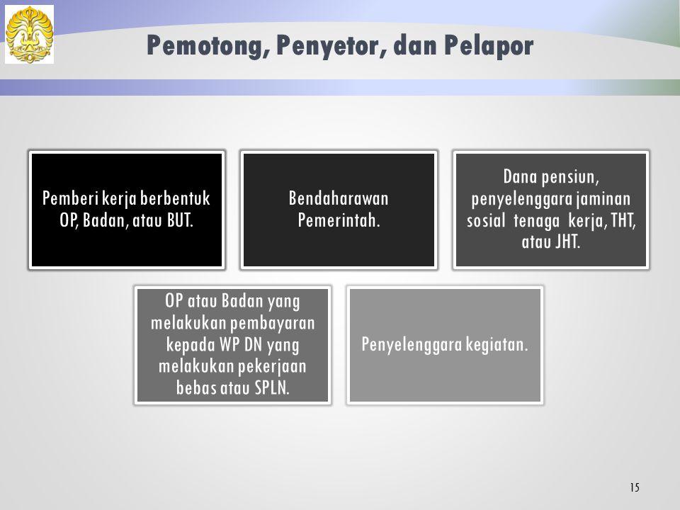 Objek PPh 21 Final Penghasilan tidak tetap atau tidak teratur yang menjadi beban APBN atau APBD.