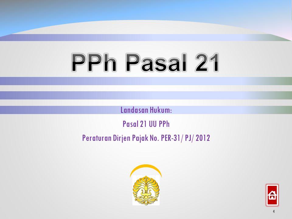Sistematika 3 PPh Pasal 21 1. PPh Pasal 26 2.