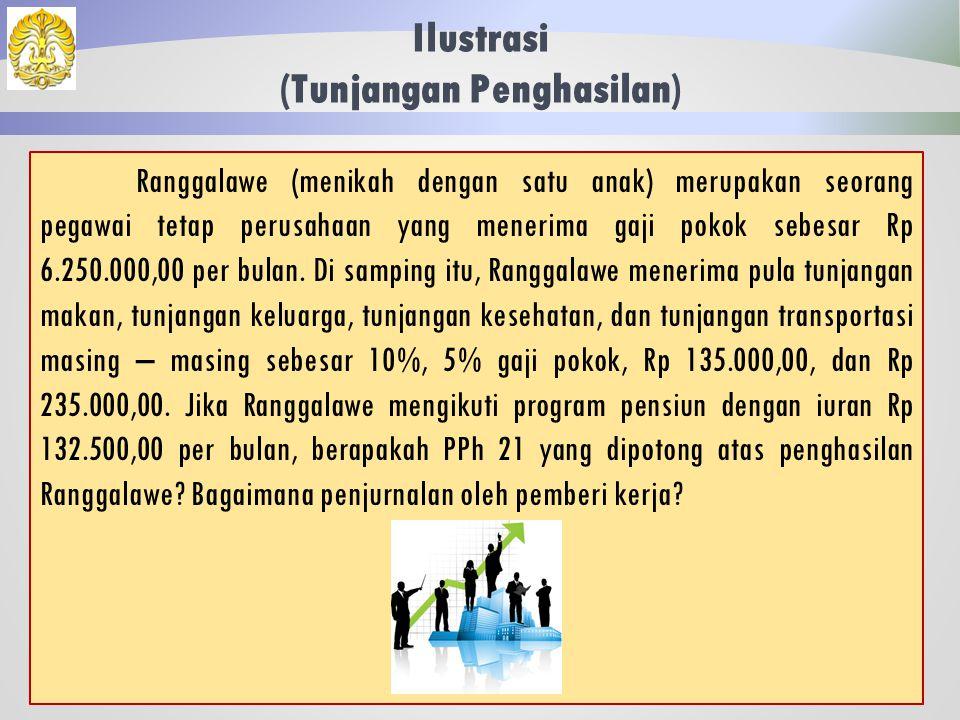 Ilustrasi (PPh Ditanggung Perusahaan) 43 Jawaban: Pajak penghasilan yang ditanggung perusahaan merupakan salah satu bentuk natura, sehingga secara umum tidak diperhitungkan sebagai penambah penghasilan pegawai dan termasuk non deductible expense bagi perusahaan.