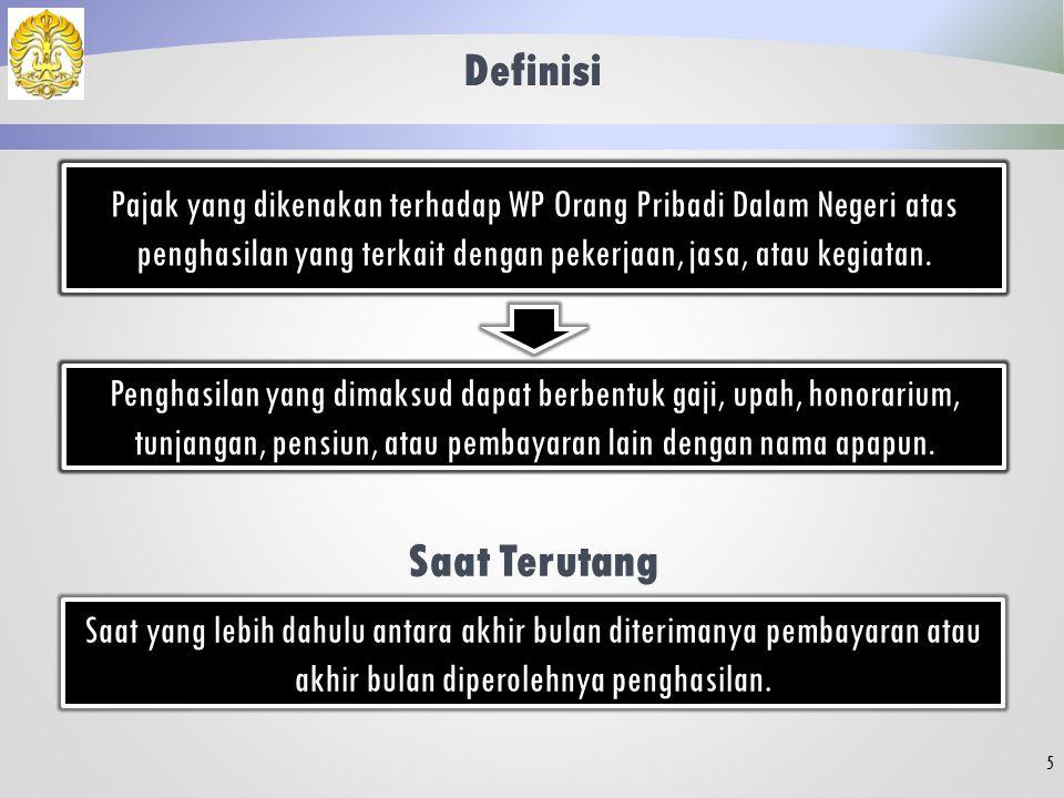 4 Landasan Hukum: Pasal 21 UU PPh Peraturan Dirjen Pajak No. PER-31/ PJ/ 2012