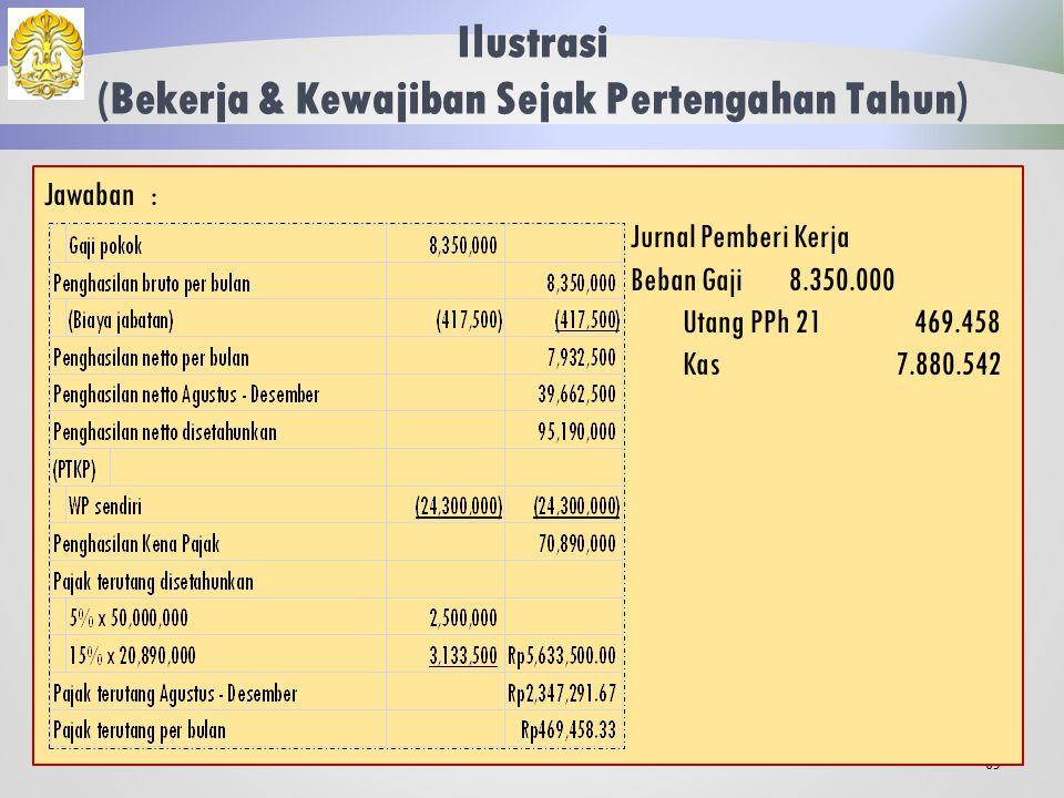 Ilustrasi (Bekerja & Kewajiban Sejak Pertengahan Tahun) 64 Trenggana merupakan WNA yang baru datang dan berniat tinggal di Indonesia sejak awal bulan Agustus 2013.