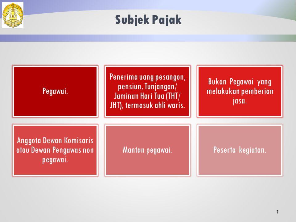 Perbedaan Pengenaan PPh 21 •WP Dalam Negeri (DN). PPh 26 •Subjek Pajak Luar Negeri (SPLN). 6