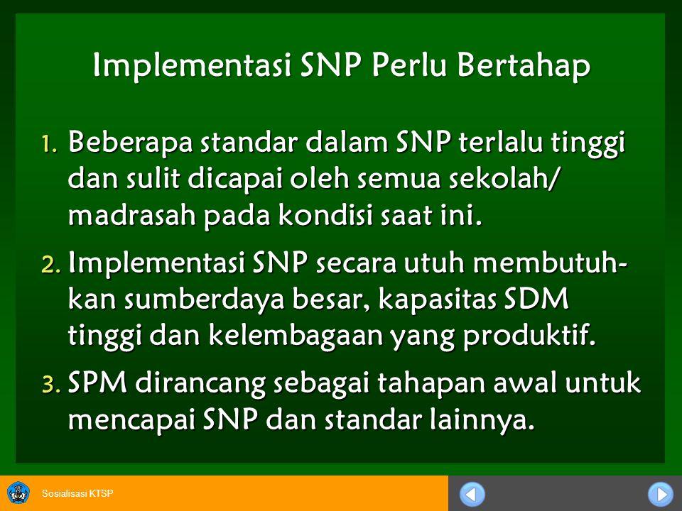 Sosialisasi KTSP Implementasi SNP Perlu Bertahap 1.