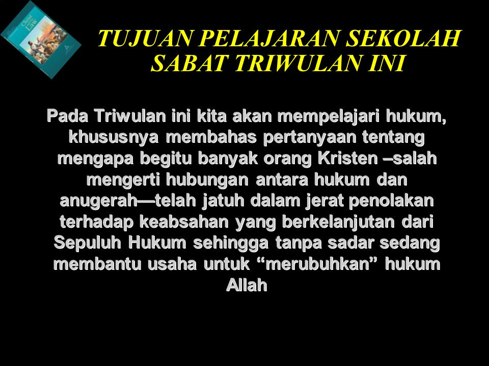 b Understand the purposes of marriageA Kristus dan Tradisi Keagamaan 1.