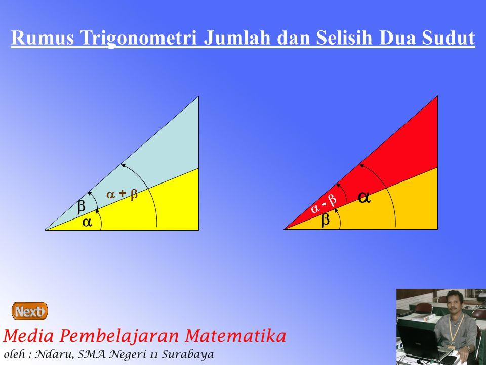 Rumus Trigonometri Jumlah dan Selisih Dua Sudut   +     -  