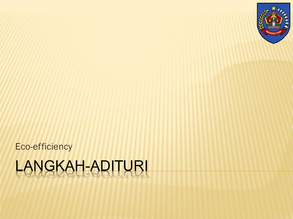Wieke Irawati Kodri fe_bandung@yahoo.com Eco-efficiency