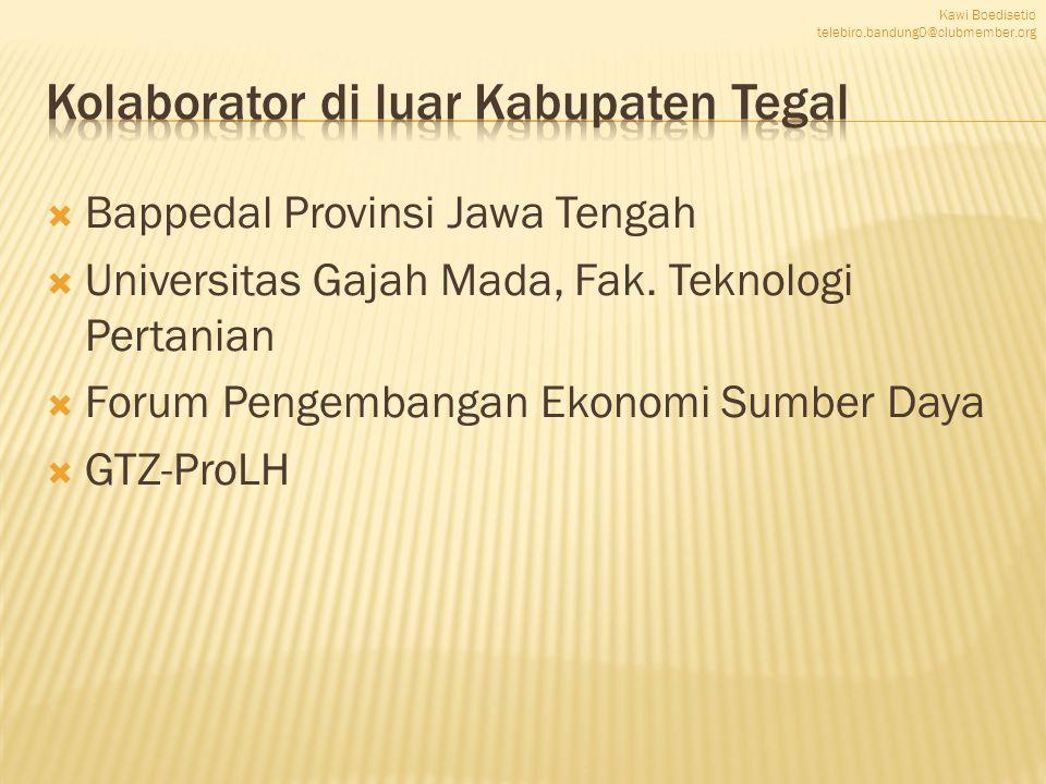  Bappedal Provinsi Jawa Tengah  Universitas Gajah Mada, Fak.