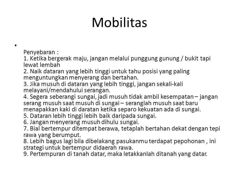 Mobilitas • Penyebaran : 1.