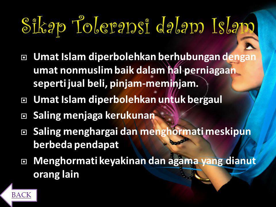 Manfaat-manfaat yang diperoleh dari sikap toleransi antara lain: 1. Menghindari Terjadinya Perpecahan Bersikap toleran merupakan solusi agar tidak ter