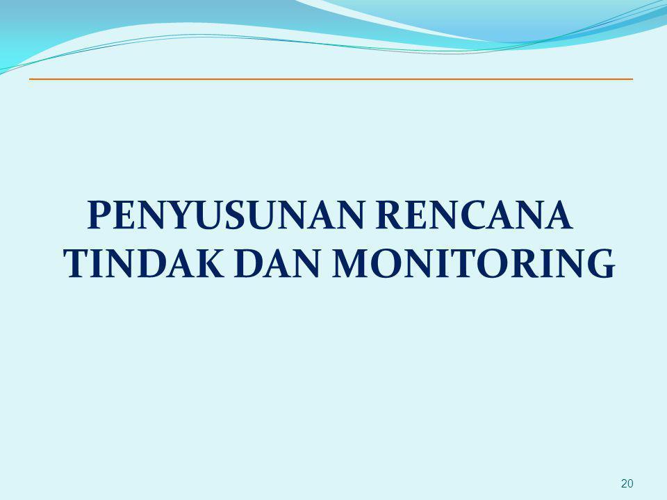 PENYUSUNAN RENCANA TINDAK DAN MONITORING 20