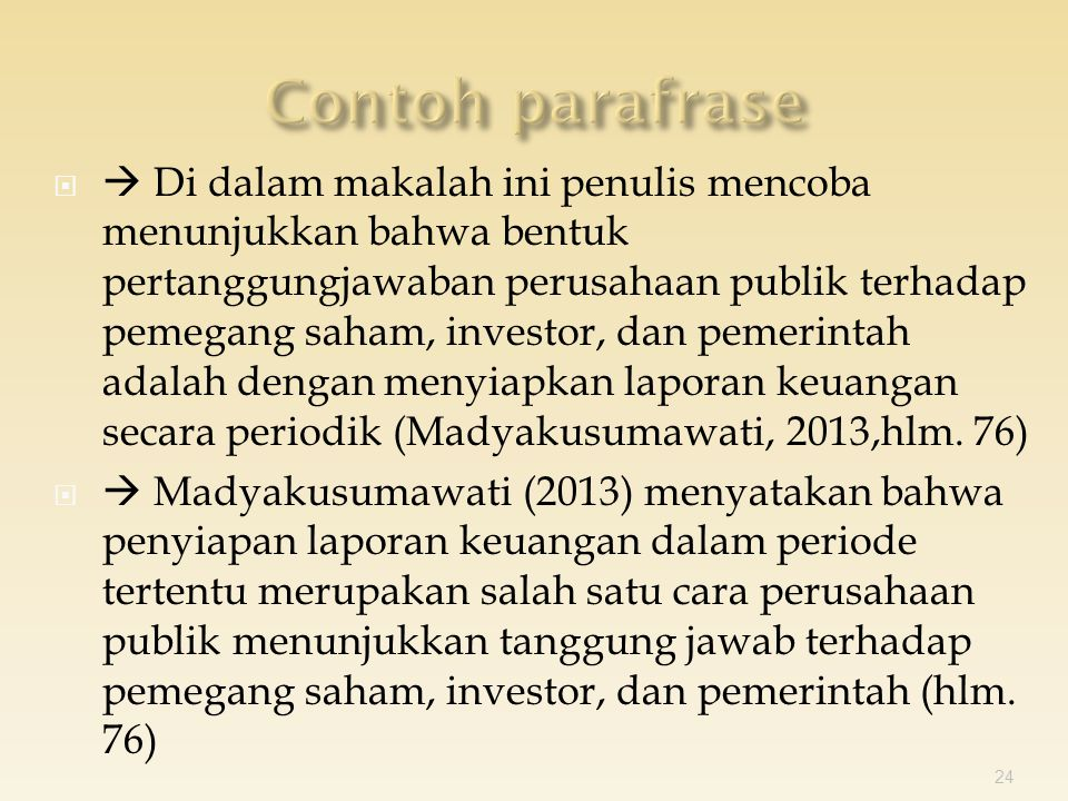   Di dalam makalah ini penulis mencoba menunjukkan bahwa bentuk pertanggungjawaban perusahaan publik terhadap pemegang saham, investor, dan pemerintah adalah dengan menyiapkan laporan keuangan secara periodik (Madyakusumawati, 2013,hlm.