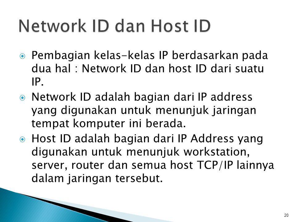 Dikenal dua cara pembagian IP address: ◦ Classfull Addressing ◦ Classless Addressing 21
