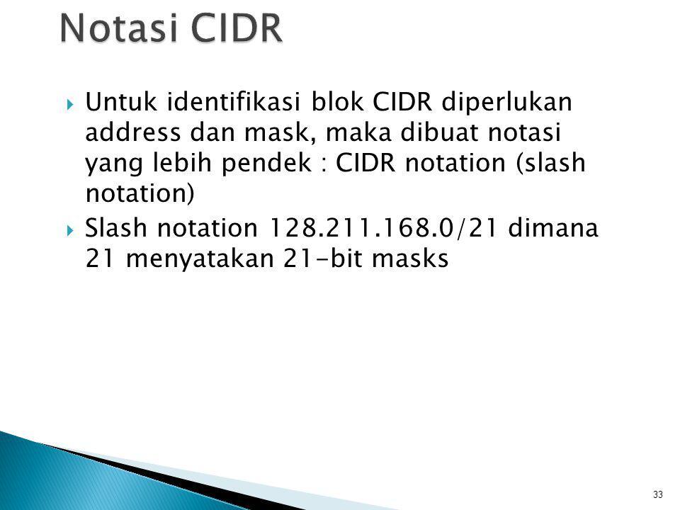  Proses memilih Network ID dan Host ID yang tepat untuk suatu jaringan.