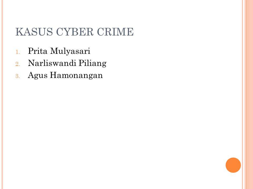 KASUS CYBER CRIME 1. Prita Mulyasari 2. Narliswandi Piliang 3. Agus Hamonangan