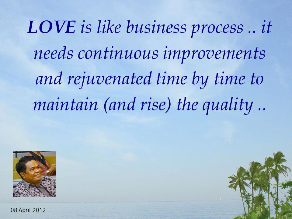 LOVE is like business process..
