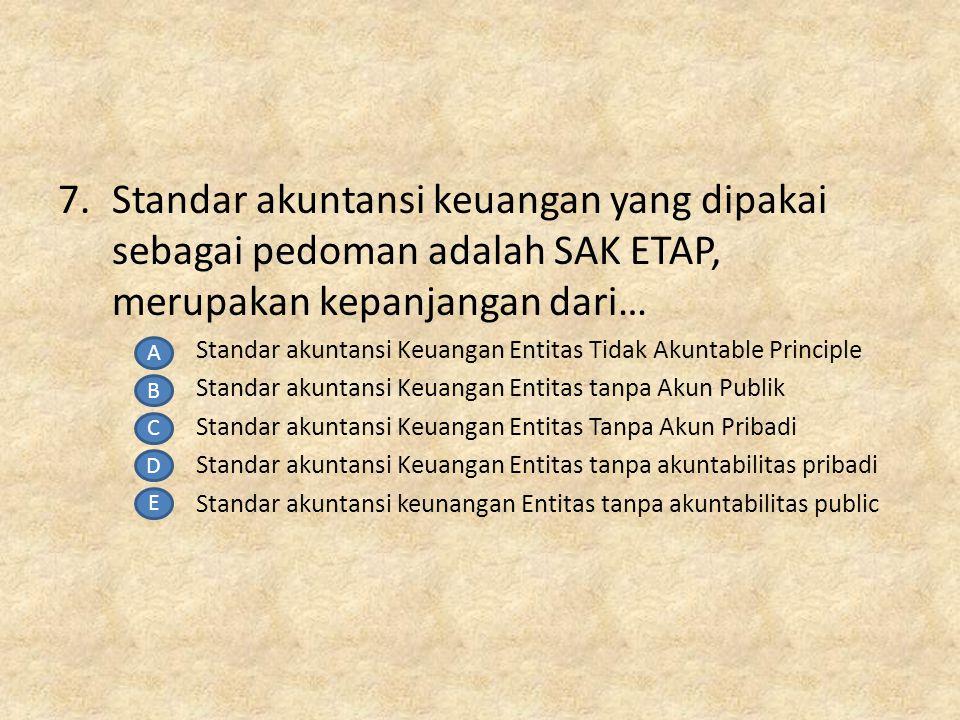6.Lembaga yang menangani sertifikasi profesi dari siswa akuntansi adalah LSP-TA, LSP-TA kepanjangan dari…….