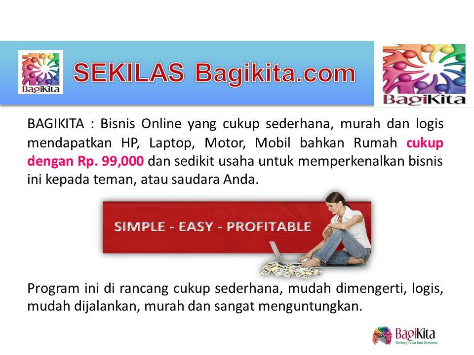 SISTEM BAGIKITA.COM Biaya aktivasi hanya Rp.