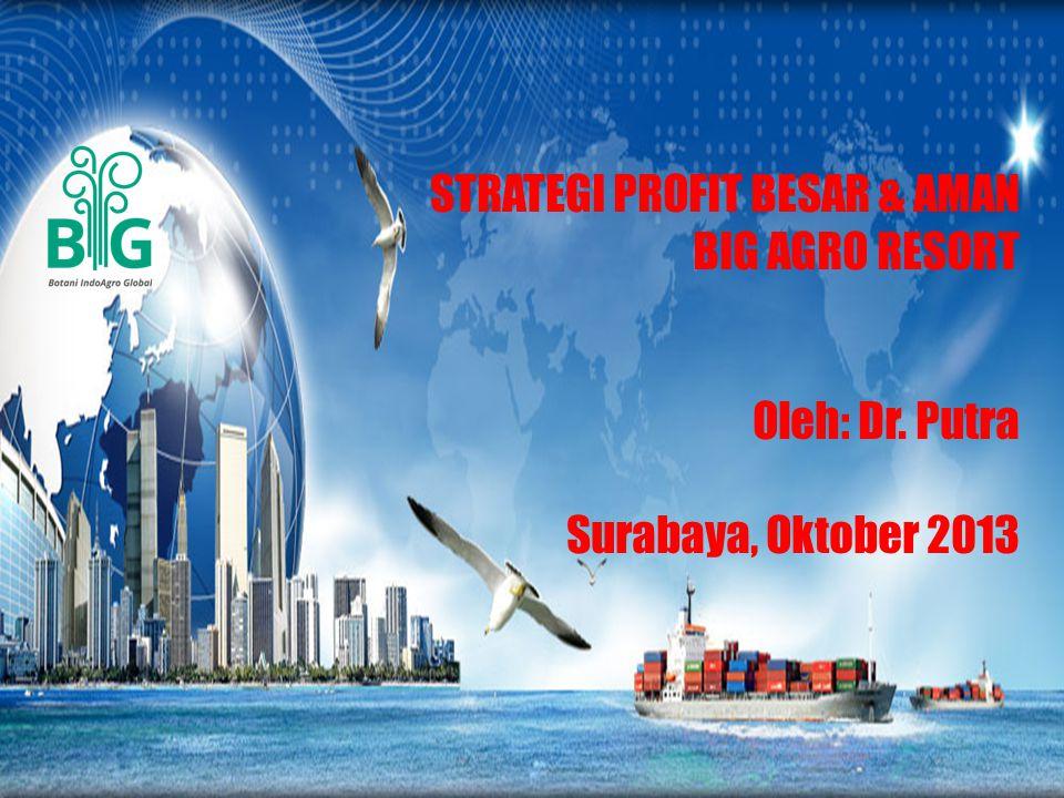 STRATEGI PROFIT BESAR & AMAN BIG AGRO RESORT Oleh: Dr. Putra Surabaya, Oktober 2013