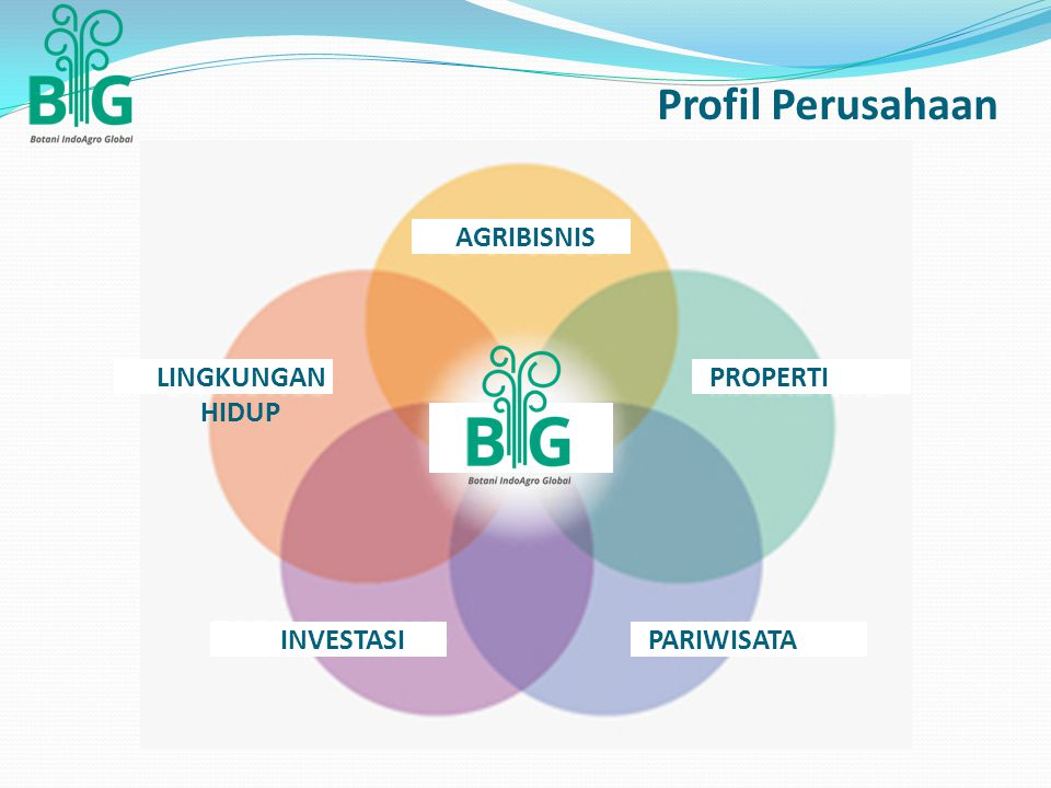 Profil Perusahaan AGRIBISNIS PROPERTI PARIWISATAINVESTASI LINGKUNGAN HIDUP