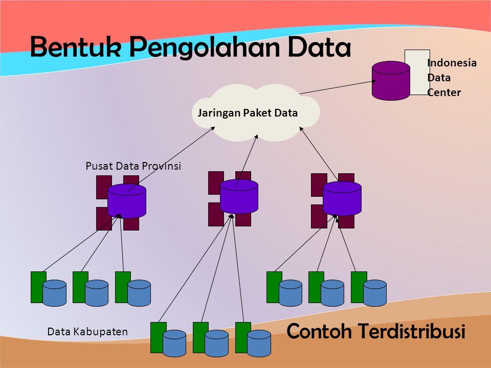 Bentuk Pengolahan Data Contoh Terdistribusi Data Kabupaten Pusat Data Provinsi Jaringan Paket Data Indonesia Data Center