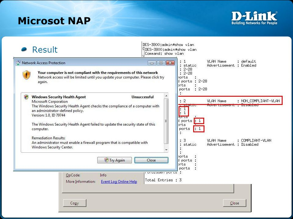 Microsot NAP Result Firewall On Firewall Off