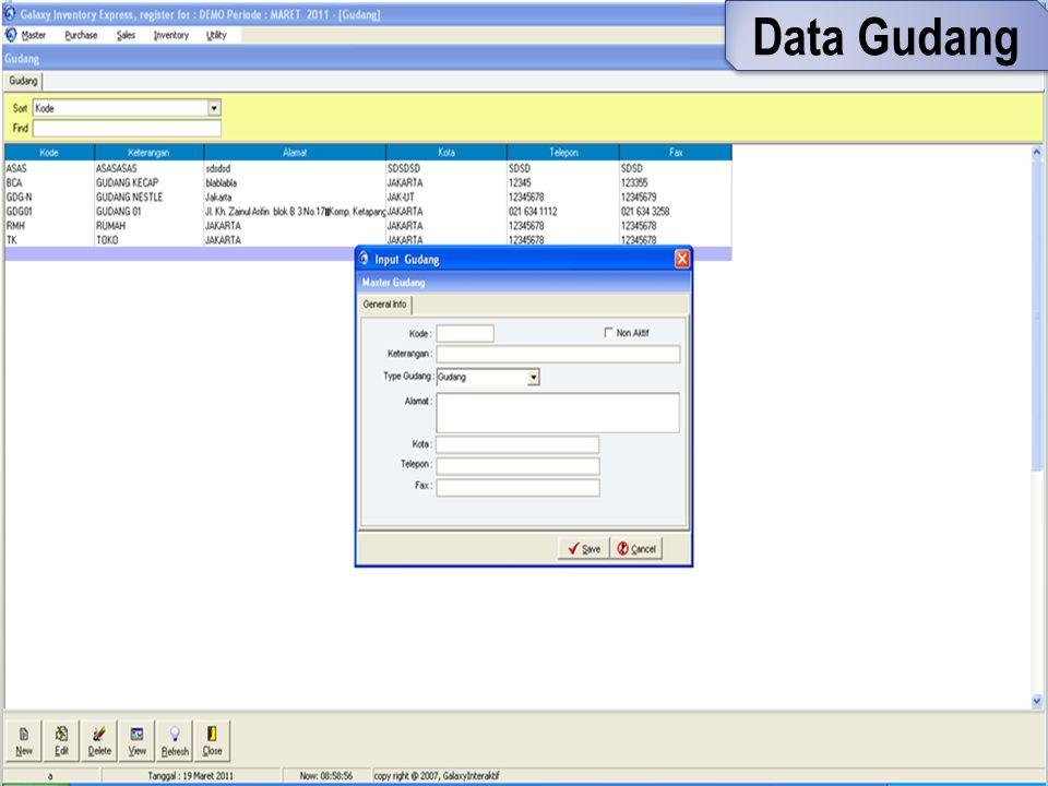 Data Gudang