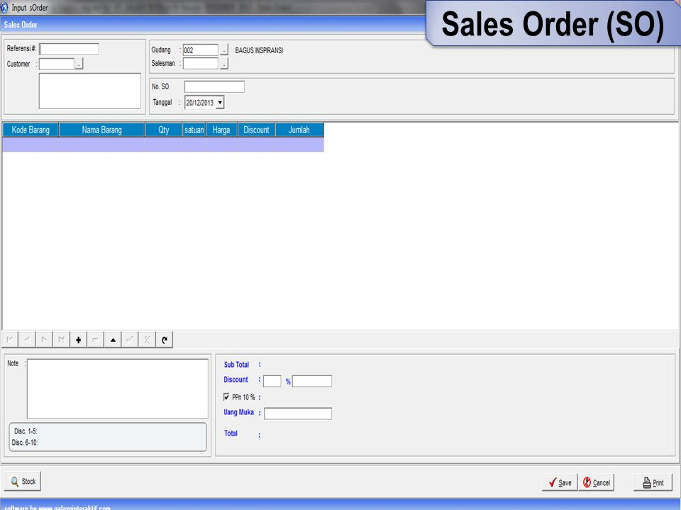 Sales Order (SO)