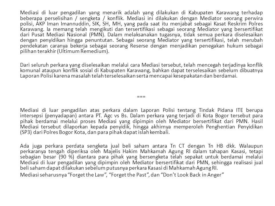 Data penyelesaian perkara/konflik khusus perkara yang berhubungan dengan Direktorat Reskrim Umum pada Wilayah Hukum Polda Jawa Barat (21 Polres, 1 Polrestabes, 1 Dit Reskrim Um) per Semester I tahun 2012 (Januari s/d Juni 2012), Jumlah total perkara/konflik 15.595 kasus.