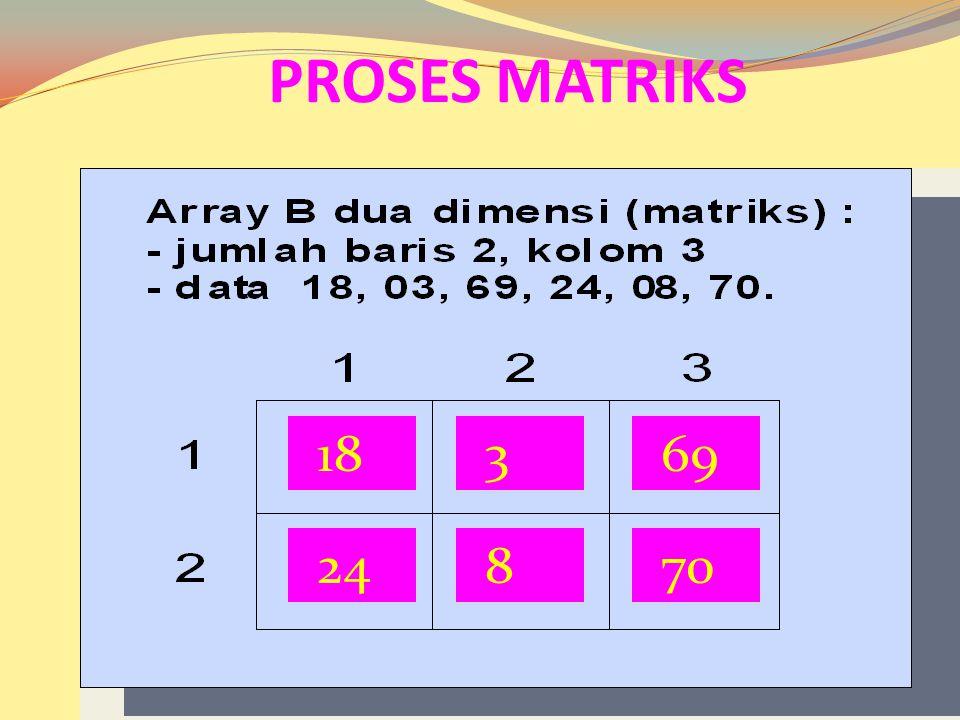 18 369 24870 Proses Matriks