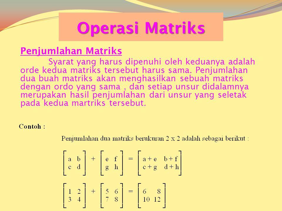  Matrik Eselon Baris Tereduksi Matriks yang mempunyai ciri-ciri sbb: 1.Pada baris tak nol maka unsur tak nol pertama adalah 1 (disebut 1 utama). 2.Pa