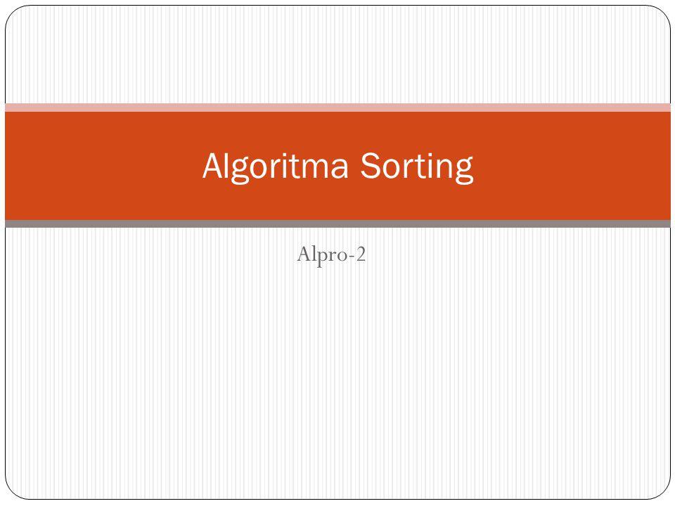 Alpro-2 Algoritma Sorting
