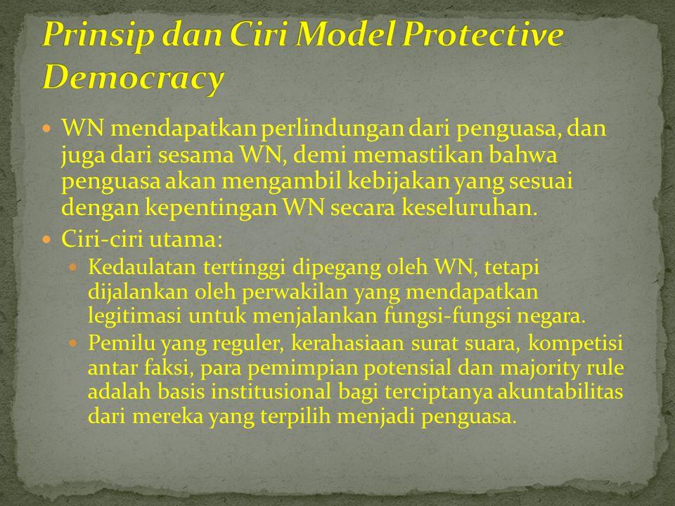  WN mendapatkan perlindungan dari penguasa, dan juga dari sesama WN, demi memastikan bahwa penguasa akan mengambil kebijakan yang sesuai dengan kepen