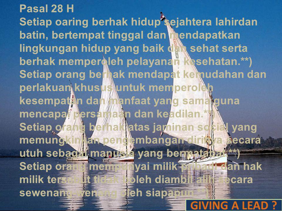 Pasal 28 G Setiap orang berhak atas perlindungan diri pribadi, keluarga, kehormatan, martabat, dan harta benda yang dibawah kekuasaannya, serta berhak