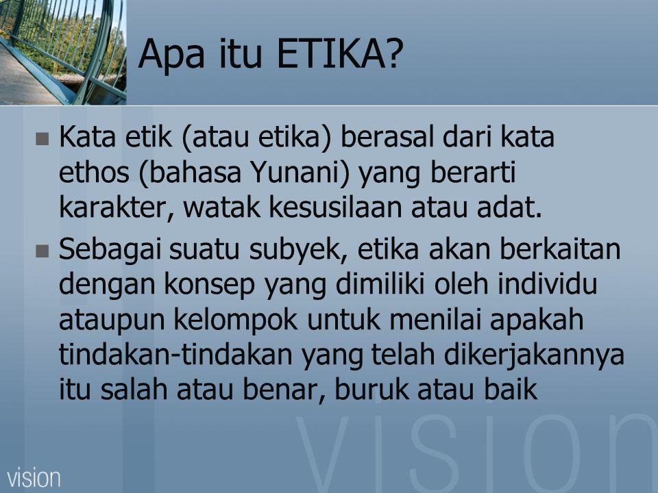 Apa itu ETIKA.