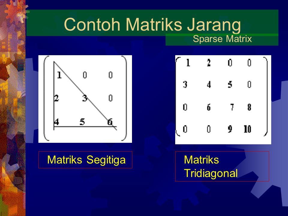 Contoh Matriks Jarang Sparse Matrix Matriks SegitigaMatriks Tridiagonal