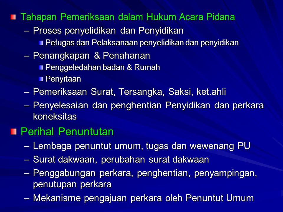 Pertemuan ke-2 Sejarah Hukum Acara Pidana di Indonesia Tujuan Pembelajaran : Mahasiswa mampu memahami dan menganalisa berbagai perkembangan aspek hukum Indonesia.