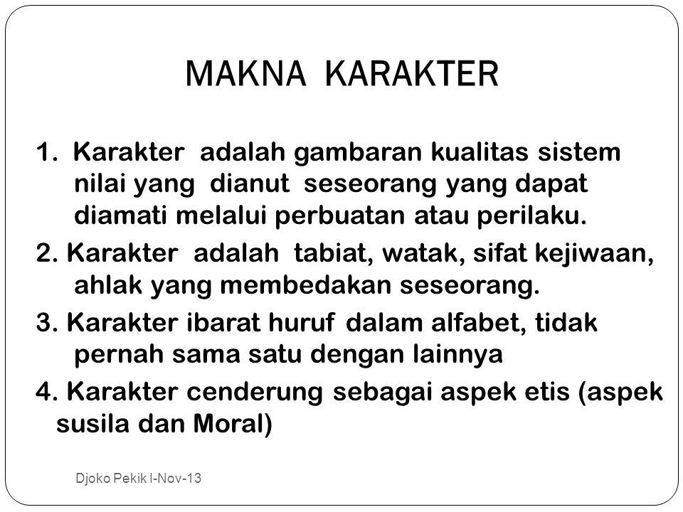 MAKNA KARAKTER 1.