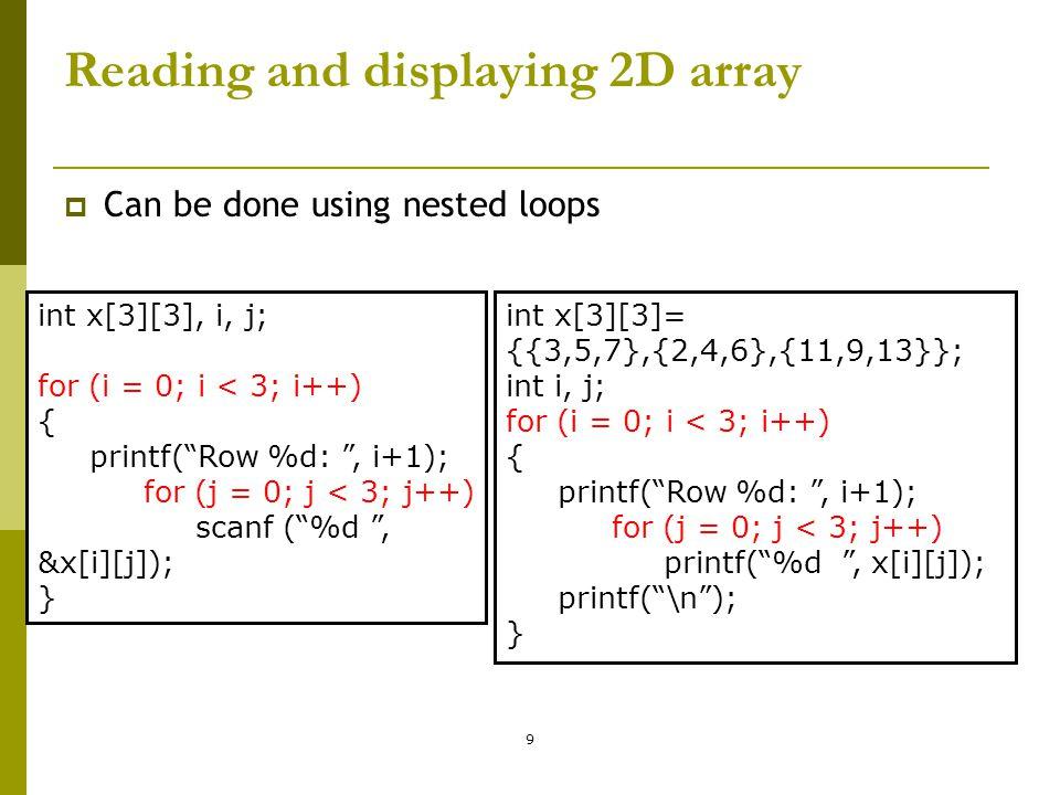 CONTOH PROSES Matriks  Mengisi elemen matriks dengan 0 (inisialisasi)  Mengisi elemen matriks dari piranti masukan  Mencetak elemen matriks ke piranti keluaran ALGORITMA For Baris  0 to M-1 do For Kolom  0 to N-1 do PROSES MATRIKS Endfor