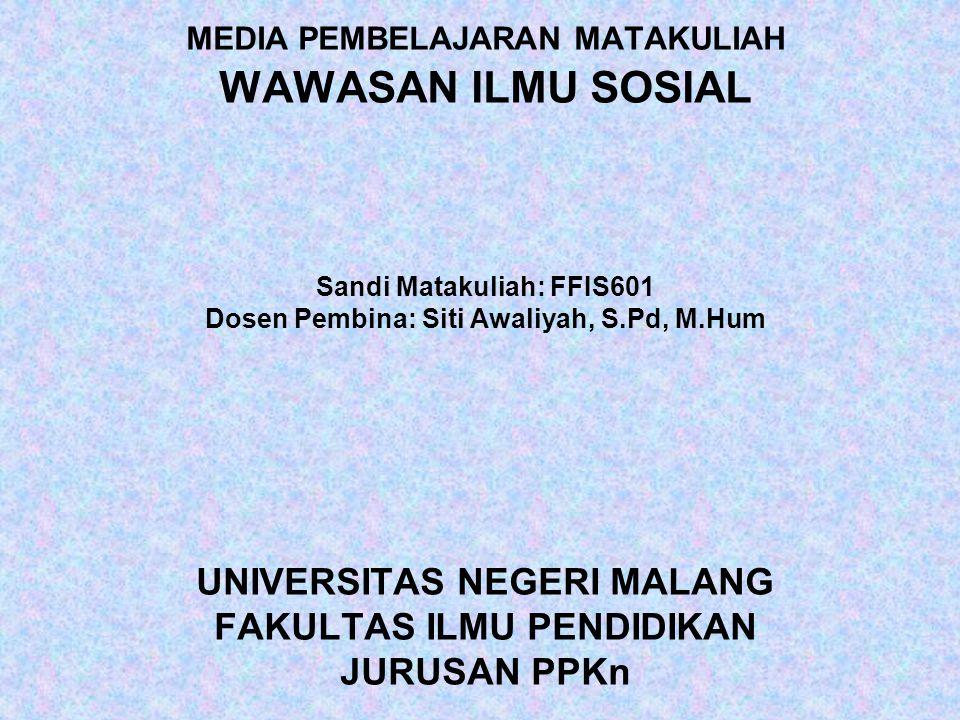 051725/Siti Awaliyah,S.Pd,M.Hum PENERAPAN ILMU SOSIAL 1.