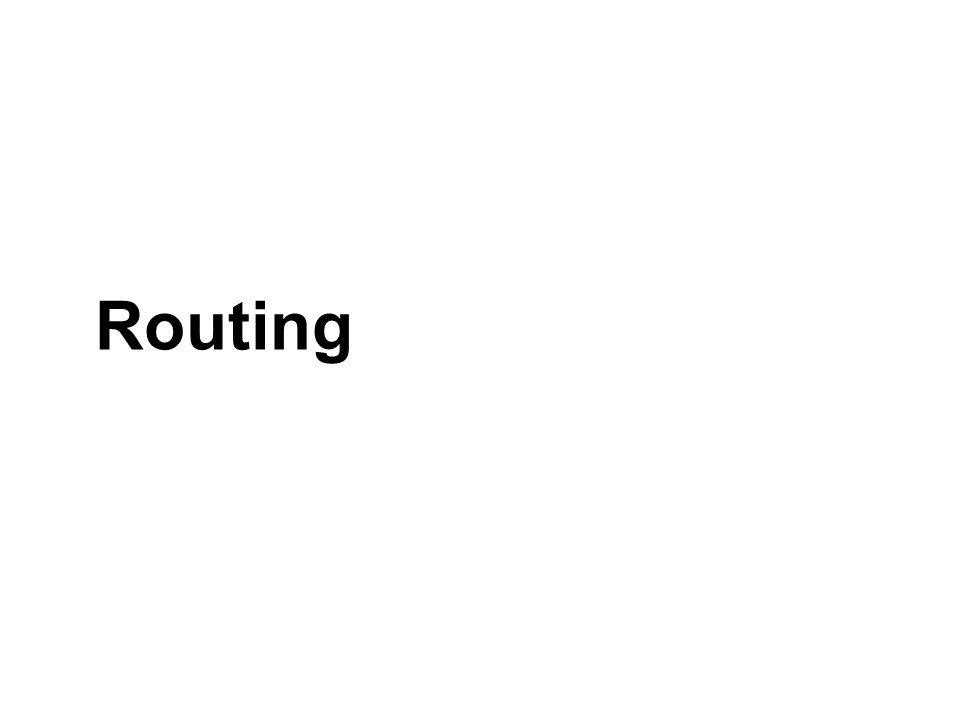 Dynamic Routing Secara otomatis router membangun jalur routingnya, dengan cara bertukar informasi antar router Kategori algoritma dinamik : Distance Vector Link State