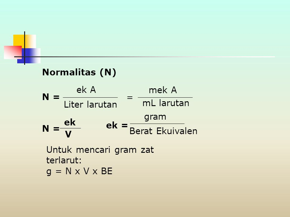 Soal  Berapa gram Na 2 SO 4 (142,1 g/mol) diperlukan untuk membuat larutan sebanyak 250 mL dengan konsentrasi 0,683 M