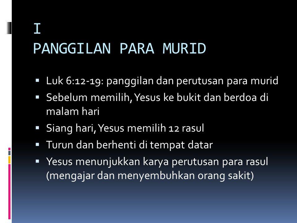 II MOTTO IMAMAT & TAHBISAN  Apa motto pribadi sebagai imam.